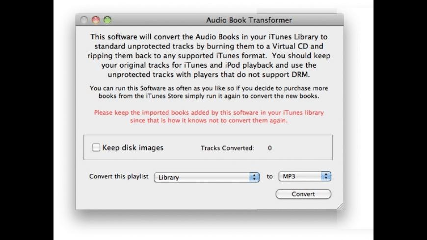 Audio Book Transformer for Mac - review, screenshots