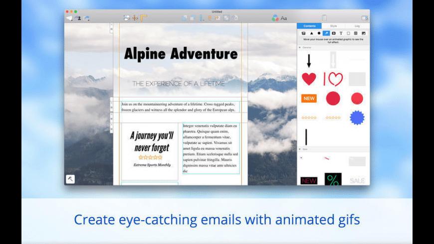 Mail Designer for Mac - review, screenshots
