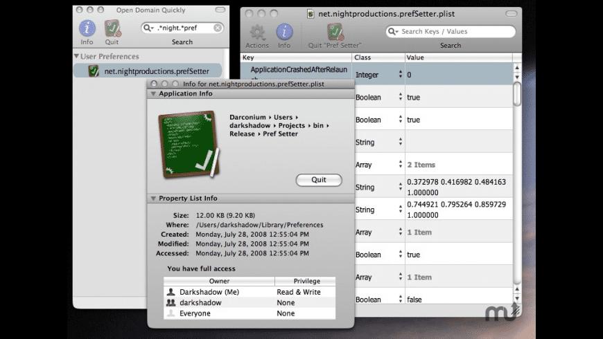 Pref Setter for Mac - review, screenshots