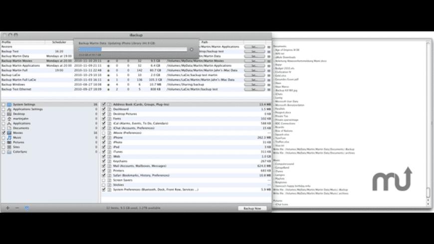 iBackup for Mac - review, screenshots