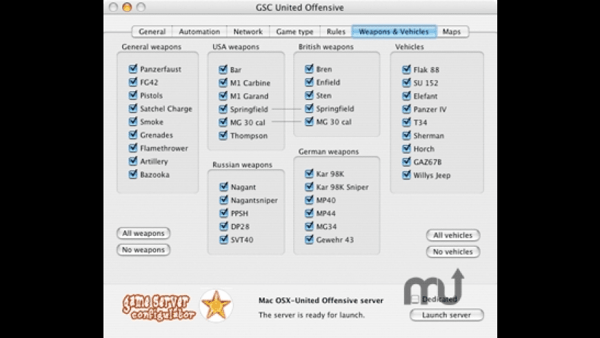 GSC United Offensive for Mac - review, screenshots