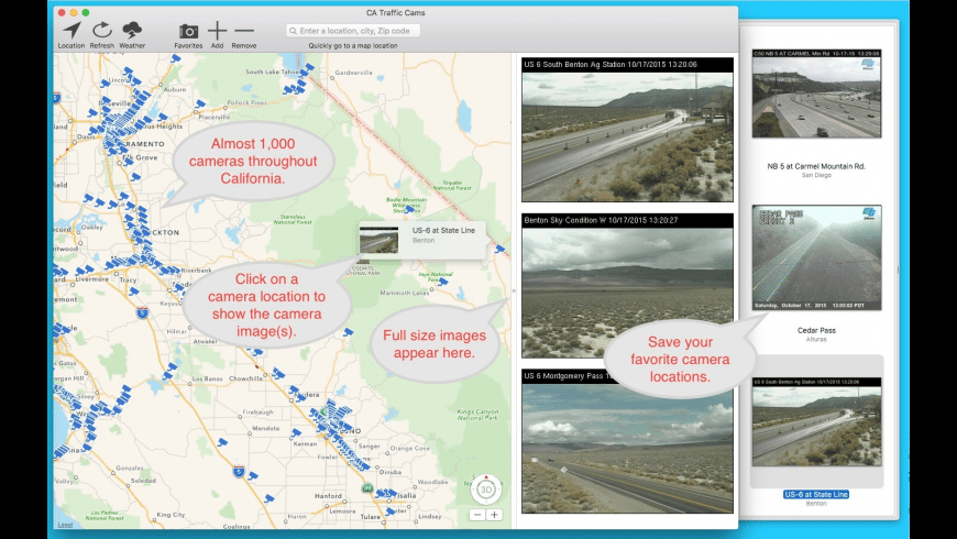 CA Traffic Cams for Mac - review, screenshots