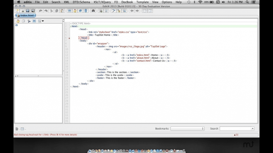 EditiX for Mac - review, screenshots