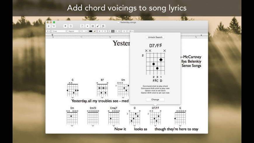 Songs for Mac - review, screenshots
