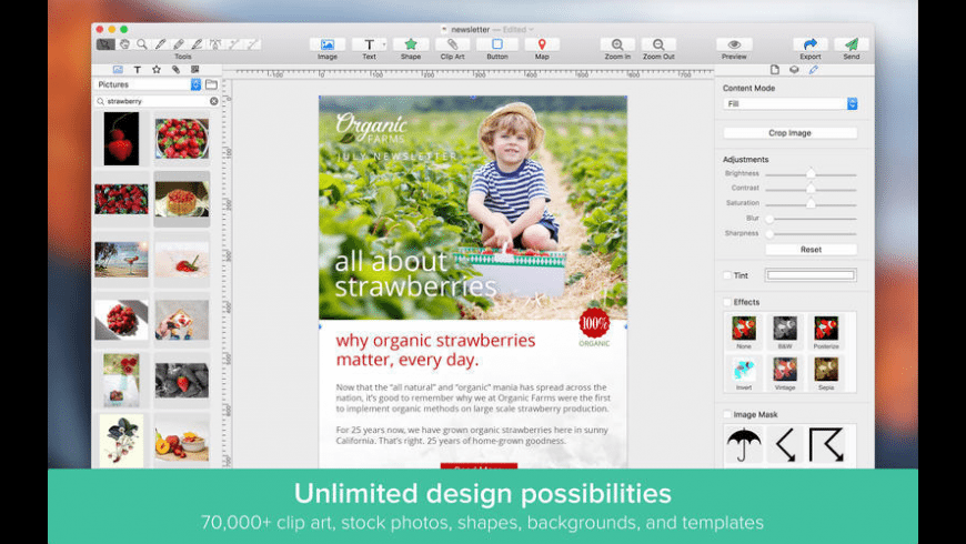 Email Designer Pro for Mac - review, screenshots
