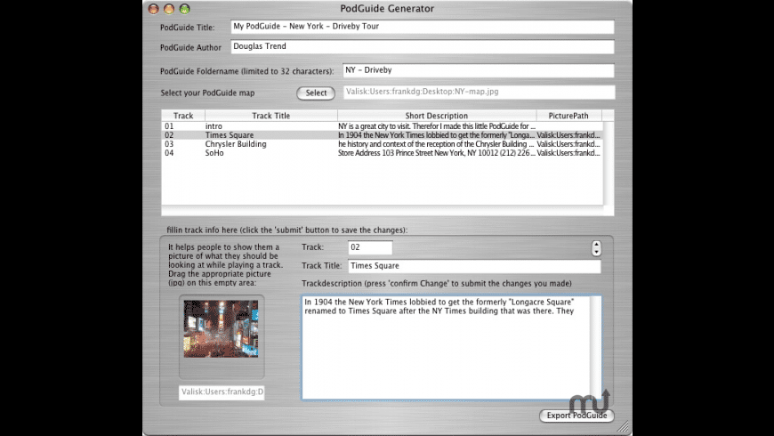 PodGuide Generator for Mac - review, screenshots