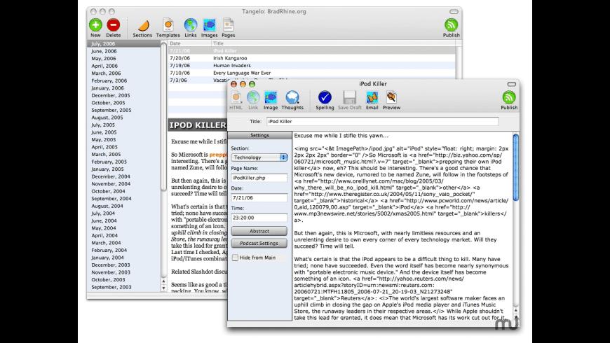 Tangelo for Mac - review, screenshots