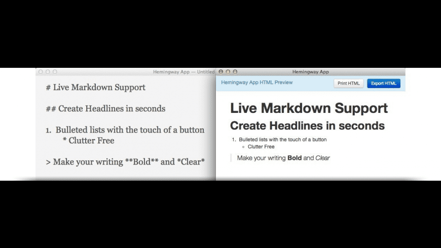 Hemingway Editor for Mac - review, screenshots