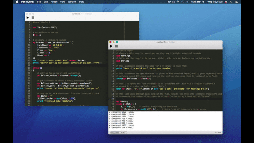 Perl Runner for Mac - review, screenshots