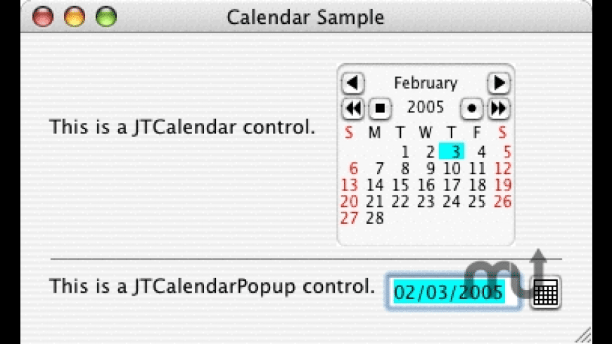 JTCalendar for Mac - review, screenshots