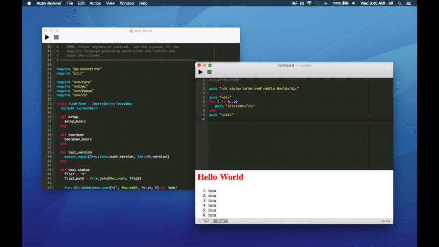 Ruby Runner for Mac - review, screenshots