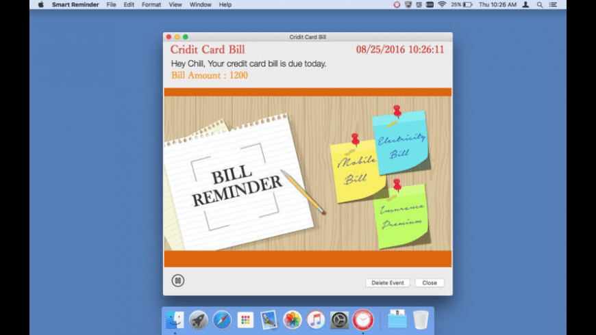 Smart Reminder for Mac - review, screenshots