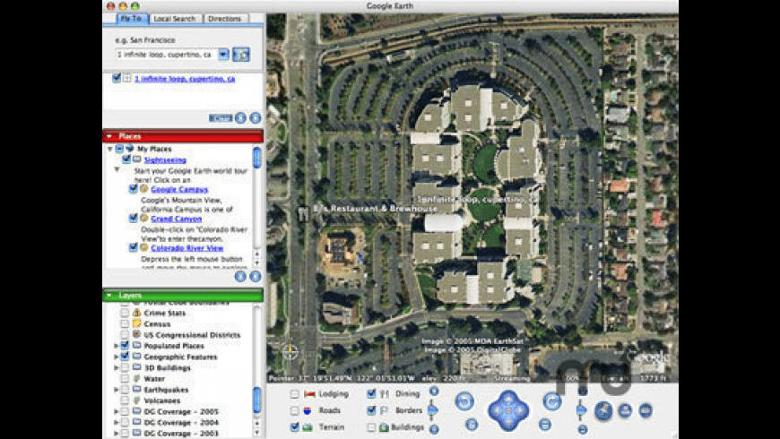 Google Earth Web Plug-in for Mac - review, screenshots