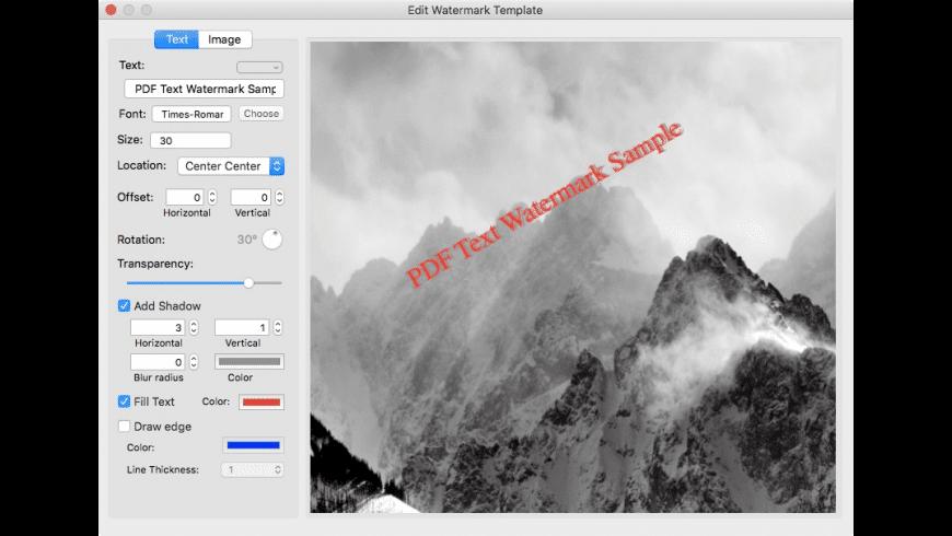 Star PDF Watermark for Mac - review, screenshots