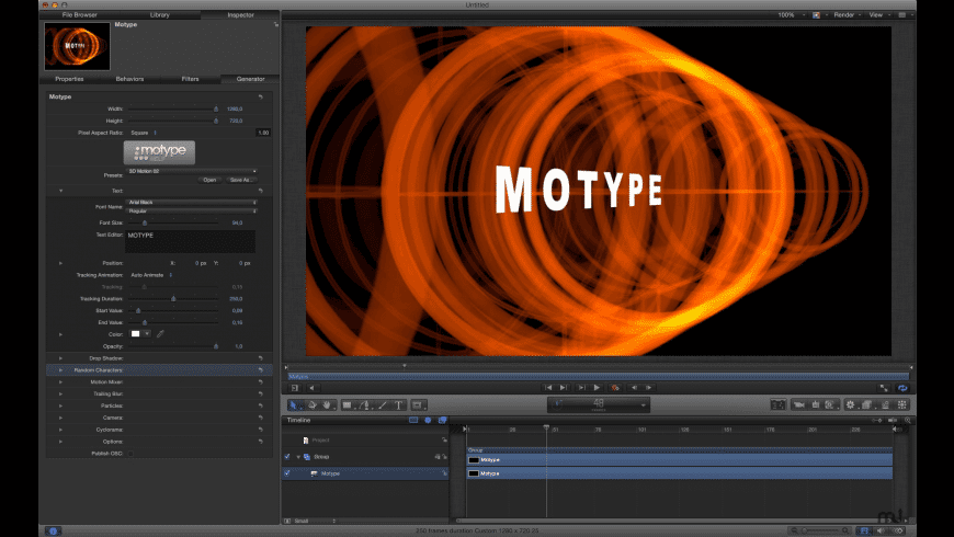 Motype for Mac - review, screenshots