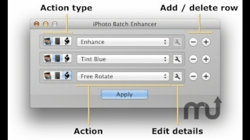 iPhoto Batch Enhancer for Mac - review, screenshots