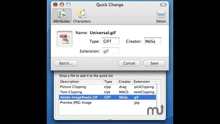 Quick Change for Mac - review, screenshots