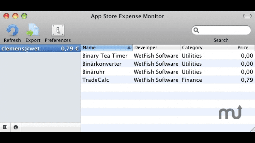 App Store Expenses for Mac - review, screenshots