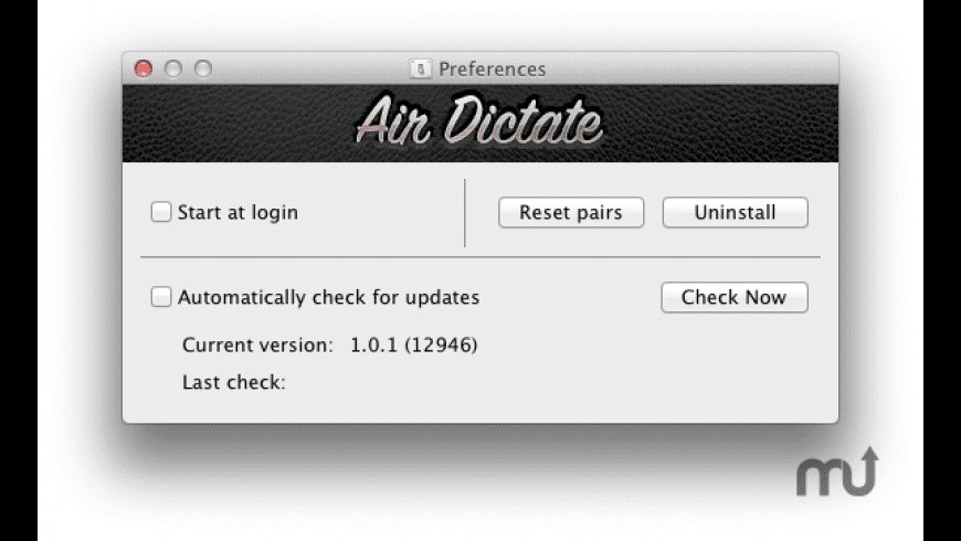 Air Dictate Receiver for Mac - review, screenshots