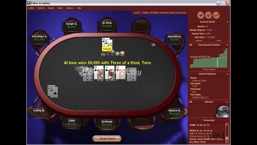 Poker Academy Pro for Mac - review, screenshots