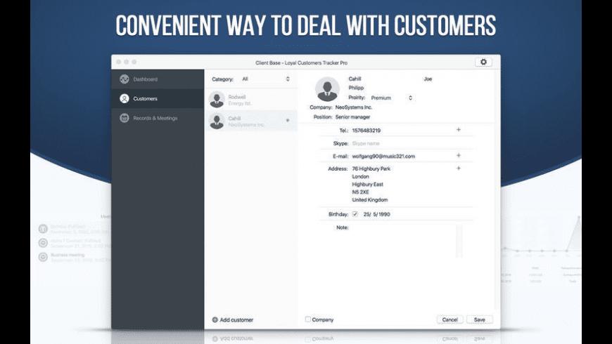 Client Base for Mac - review, screenshots