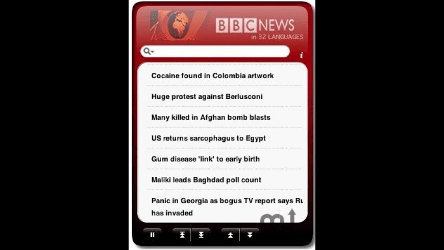 BBC News Widget for Mac - review, screenshots