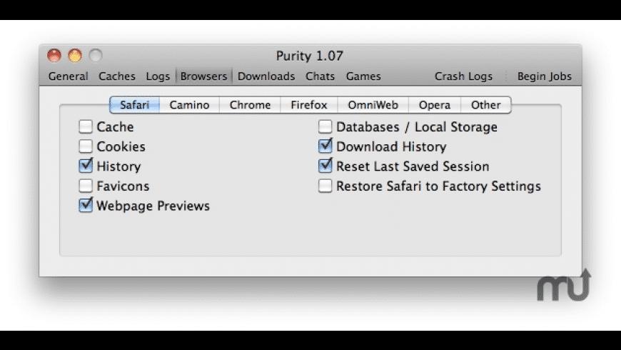 Purity for Mac - review, screenshots