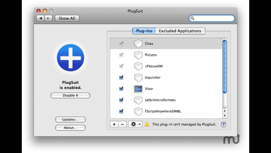 PlugSuit for Mac - review, screenshots