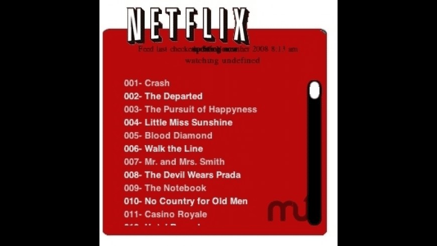 Netflix Top Movies for Mac - review, screenshots