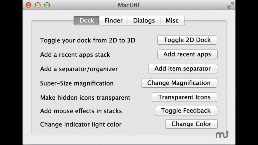 MacUtil for Mac - review, screenshots