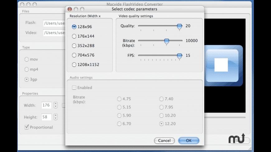 FlashVideo Converter for Mac - review, screenshots