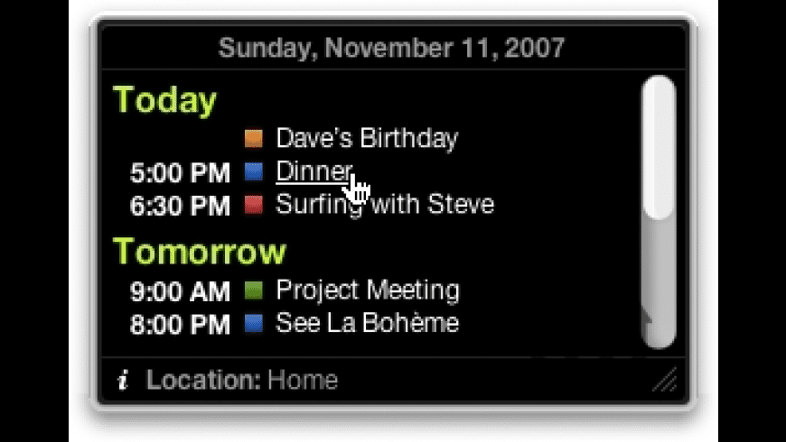 iCal Events for Mac - review, screenshots