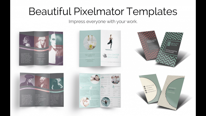 Templates for Pixelmator for Mac - review, screenshots