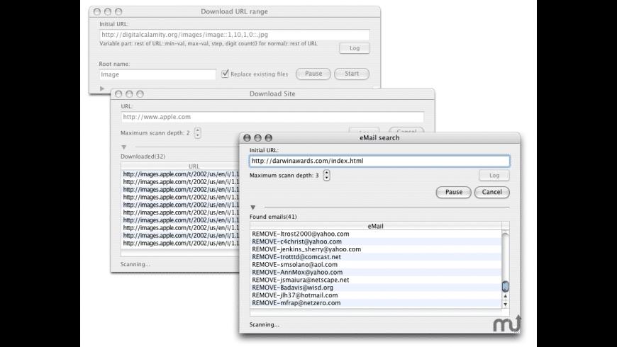 WebSucker for Mac - review, screenshots