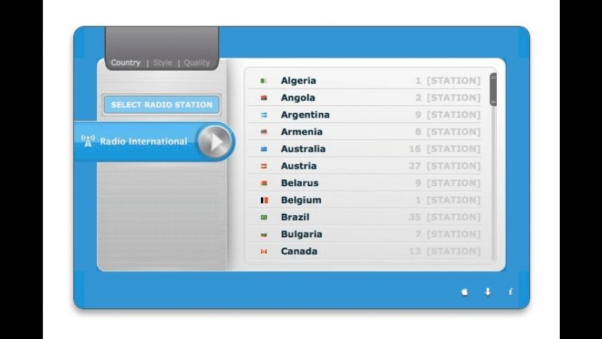 Radio International for Mac - review, screenshots