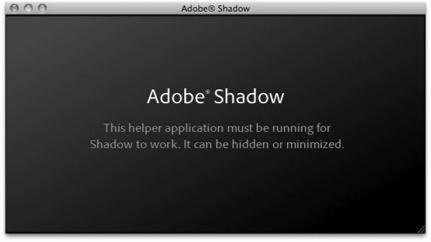 Adobe Shadow for Mac - review, screenshots