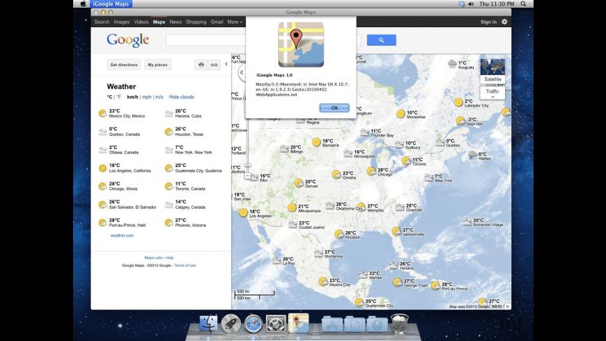 iGoogle Maps for Mac - review, screenshots