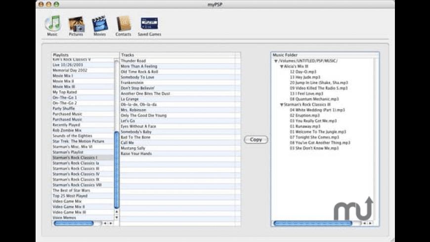 myPSP for Mac - review, screenshots