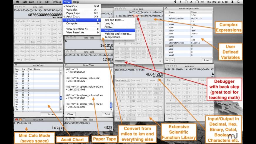 iota-calc for Mac - review, screenshots