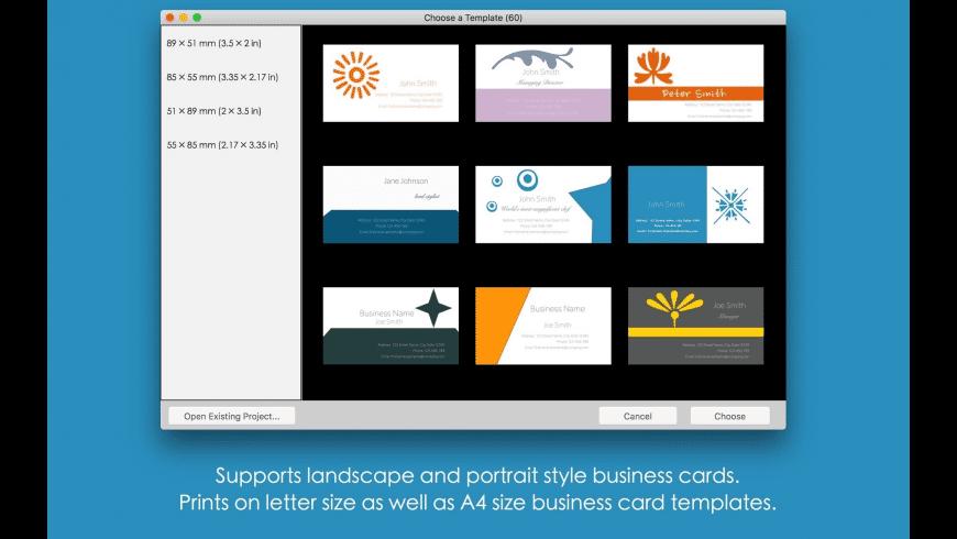 Blue Penguin Business Card Designer for Mac - review, screenshots
