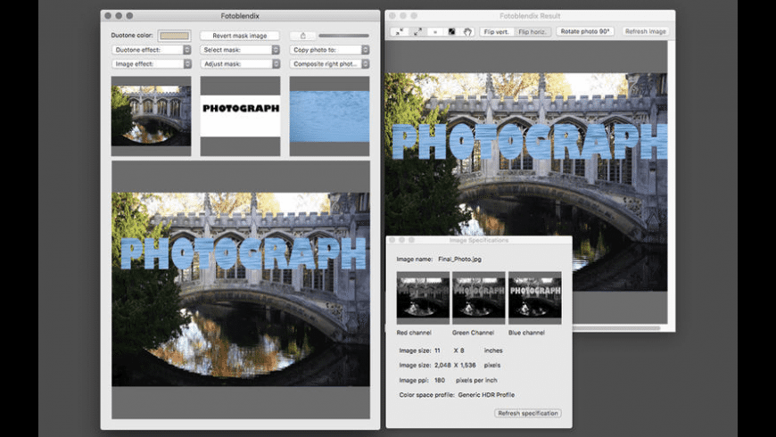 Fotoblenix for Mac - review, screenshots