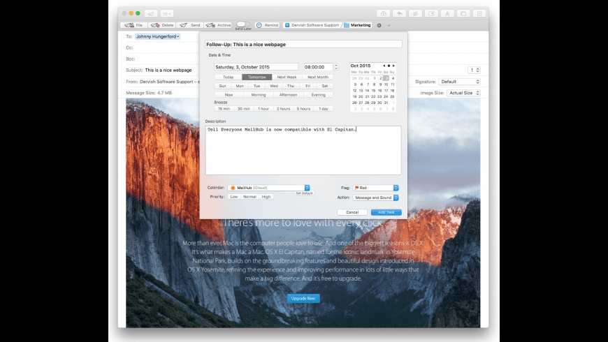 MailHub for Sierra for Mac - review, screenshots