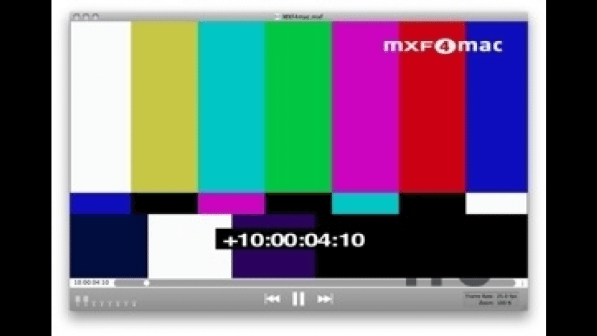 MXF4mac Player for Mac - review, screenshots