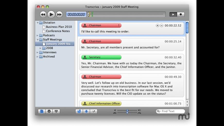 Transcriva for Mac - review, screenshots