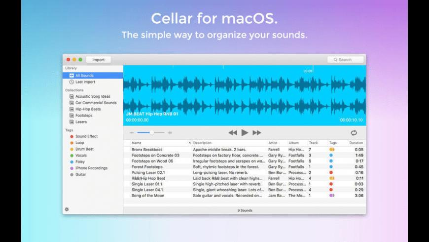 Cellar for Mac - review, screenshots