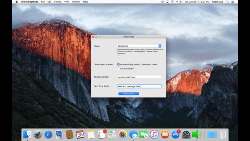 Voice Ringtones for Mac - review, screenshots