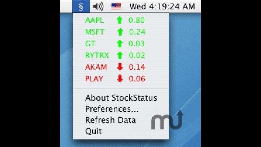 StockStatus for Mac - review, screenshots