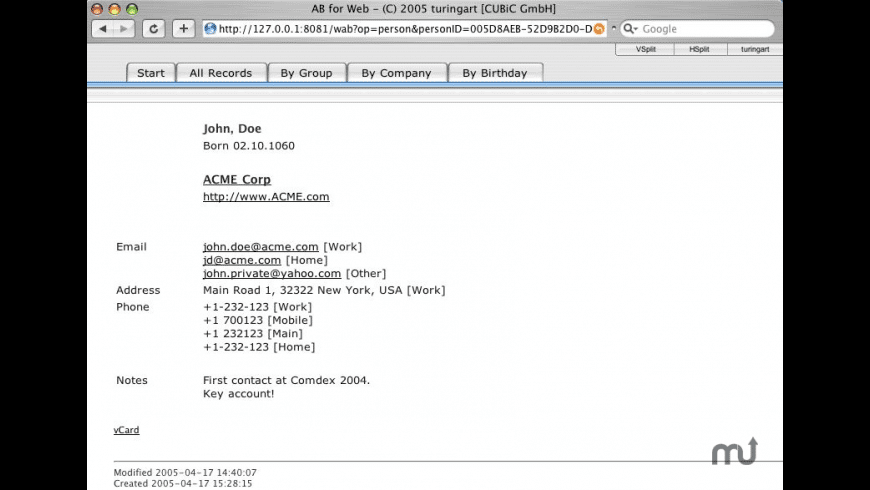 WebBook for Mac - review, screenshots