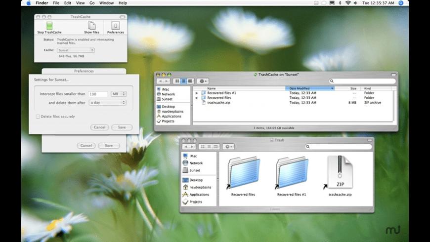 TrashCache for Mac - review, screenshots