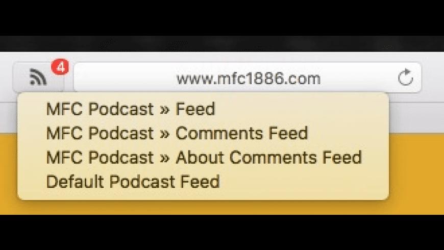 RSS Menu Extension for Safari for Mac - review, screenshots